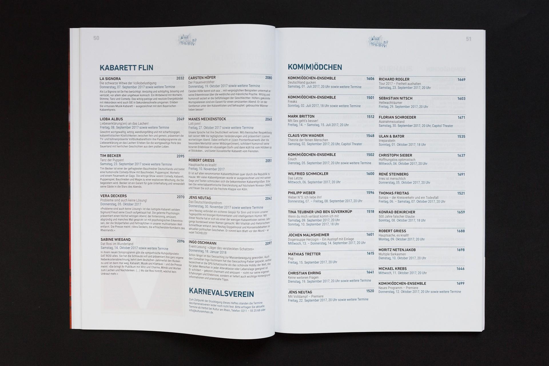 Gestaltanstalt Kultur am Rhein Spielplan 2017/18
