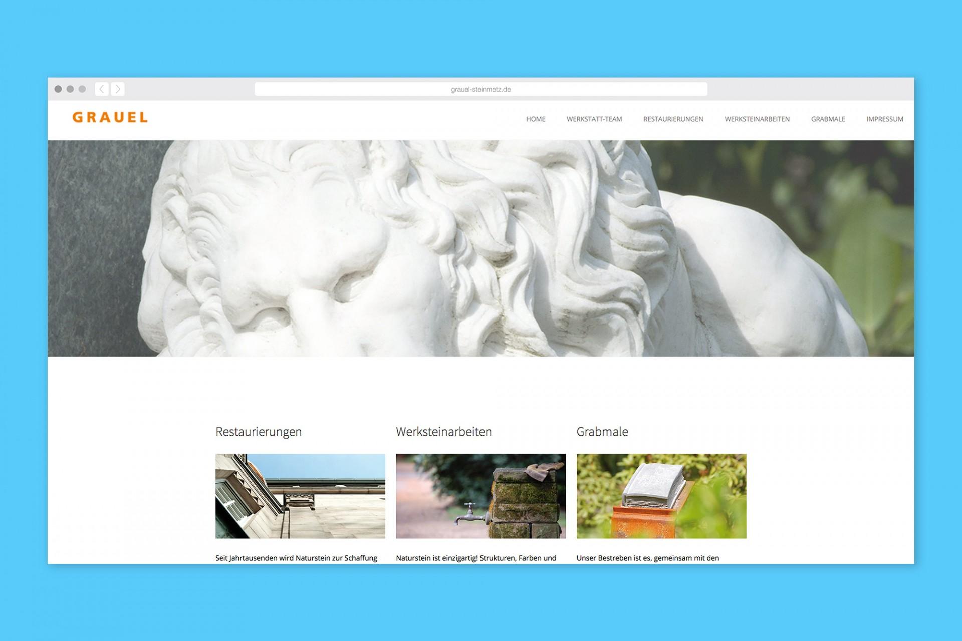 Gestaltanstalt Grauel Steinmetzwerkstatt – Website
