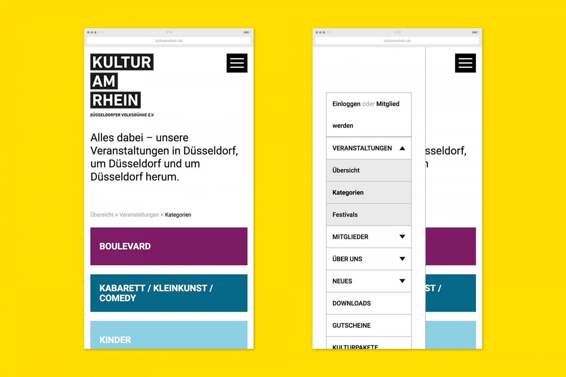 Gestaltanstalt Kultur am Rhein – Webseite